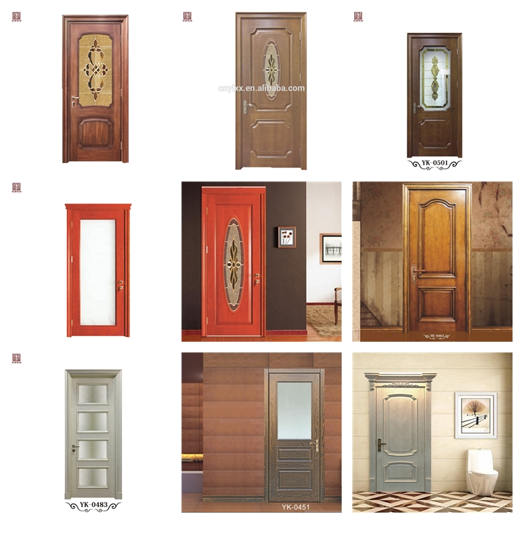 Residential Main Entry Modern Design Pivot Wood Doors with Sidelights