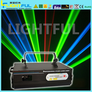 Laser effect lighting holographic projector stage light 2W RGB laser beam