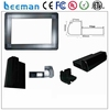 Leeman outdoor full color led signs commercial floating wall cabinets programmable scrolling led badge