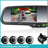 Parking Sensor Rearview Mirror With Parking Assist Four Sensors ...