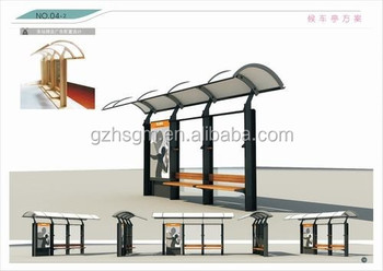 good design metal bus stop shelter in high quality with