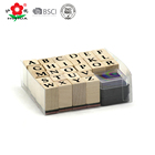 pvc box packed kids stamp set mini wooden alphbet stamps