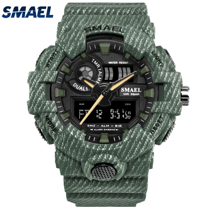 Smael factory SL8001 men military camouflage sport custom digital watch фото