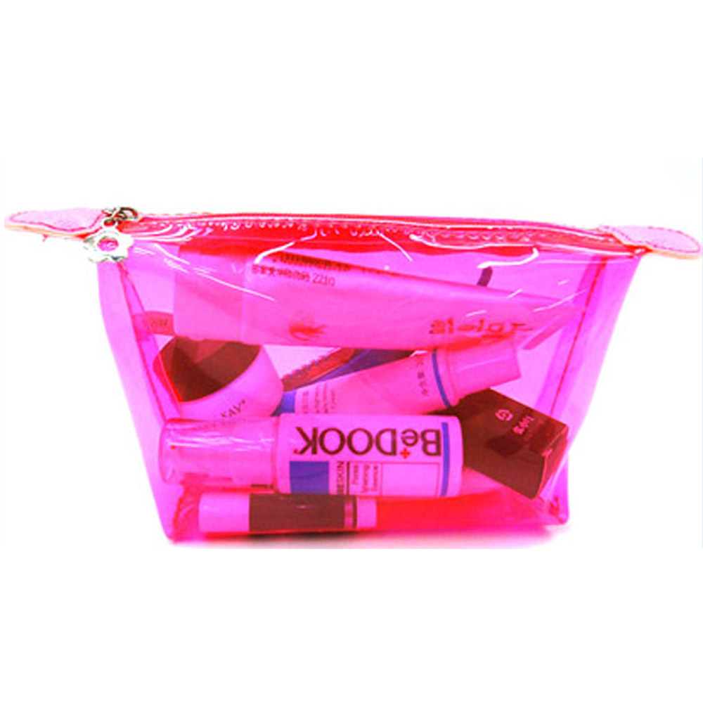 Wholesale cheap red clear waterproof makeup kit and bags
