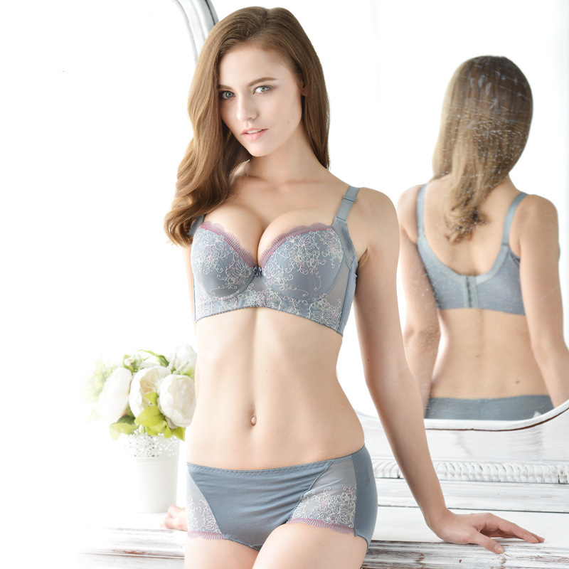2b46842ee61c7 Get Quotations · Manufacturers selling cute little fresh girl small chest  flower type adjustment gather bra underwear sexy bra