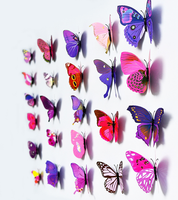 high quality Wedding decoration butterfly 3D butterfly wall stickers, wedding supplies factory
