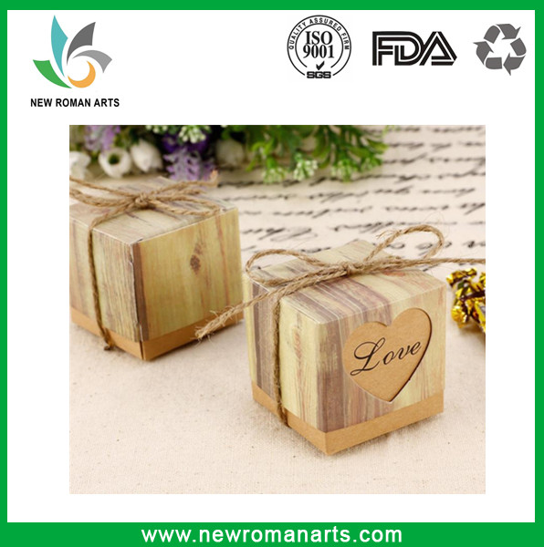 Cute Kraft Paper Hollow Out Love Heart Favor Gift Box Wedding Birthday Party Handmade Soap Jewelry Candy Wrap Packaging Boxes