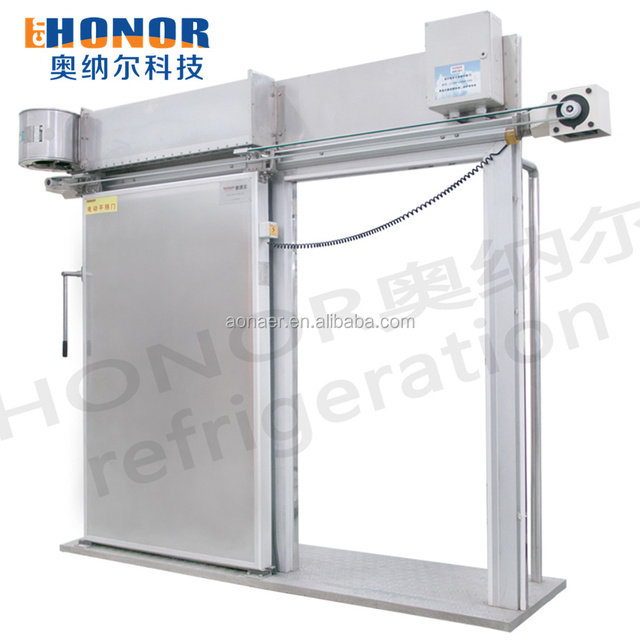 Stainless Steel Cold Storage Insulated Sliding Doors For Concrete Wall
