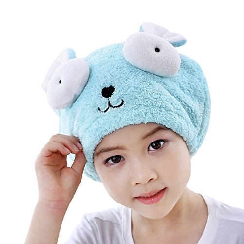 Kids Girls Hair Drying Towel Bath Towels Fast Drying Hair Wrap Dry Hair Cap Hair Towel Wrap Turban Absorbent Kids Shower Caps Head Towel Bath Spa Swimming Dry Cap Travel