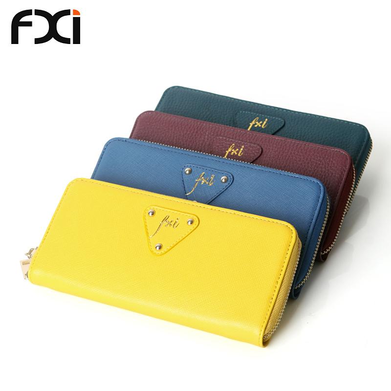 Get Quotations · genuine leather long fashion wallets pochette femme purses  women wallet famous brand women clutch porte monnaie 8e332e9cb8878