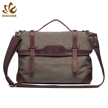 China suppliers wholesale men vintage mens canvas bags cross body messenger bag