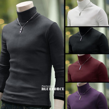 2015 New Arrival Solid Sweater Men Casual Knitted Sweaters Mens Turtleneck Long Sleeve Pullovers Blusa Masculina M-XXL J121