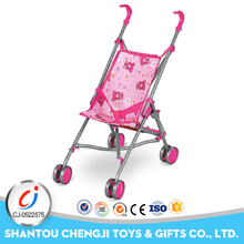Best gift kids trollry toy metal pretend stroller baby pram for doll