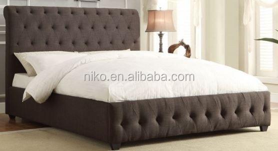 cama tapizada, Tejido gris oscuro (MB8010), moderno muebles de cama
