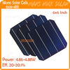 20.0-20.1% High Efficiency A Grade 4.86-4.88w monocrystalline solar cell 156x156 with 4 Busbar