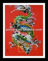Dragon wall hanging canvas painting