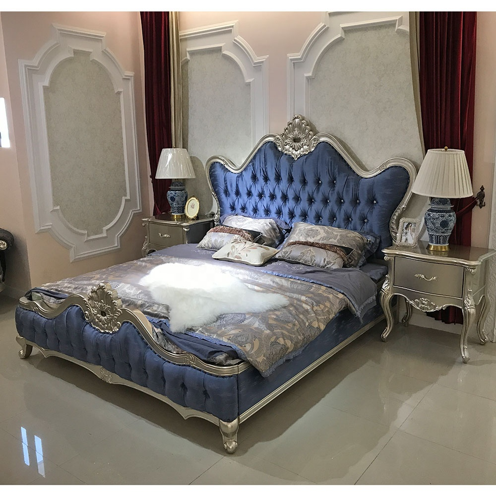 simple double bed design in woods / marriage bed design