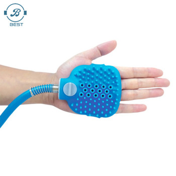 Combination Sprayer and Scrubber Better Control of Water Flow Indoor/Outdoor Pet Bathing Tool