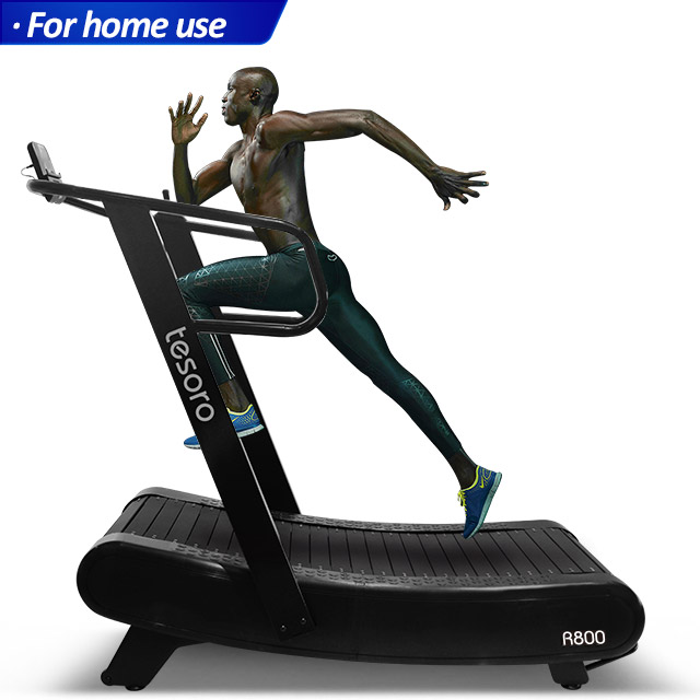 Manufacture fitness non-motorized speed fit woodway treadmill self-generated curve treadmill with resistance
