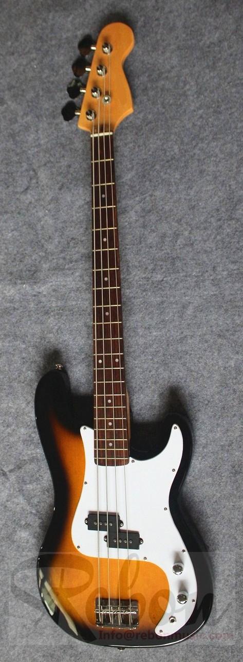 Weifang Rebon 4 String Pb Electric Bass Guitar In Black Colour View
