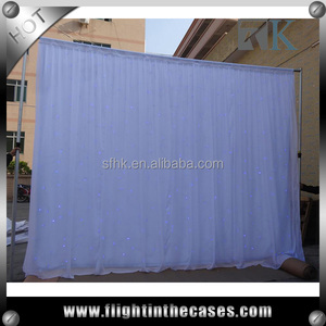 White Starlit Cloth DMX Control for Wedding and Events, Chiffon and Velvet Material