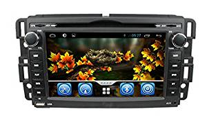 lsqSTAR 7 Inch Android 4.4 Quad Core 16GB 1024*600 Double Din in Dash Touch Screen Car Stereo Bluetooth with Steering Wheel for Buick 2008-09 Enclave & 2008-09 Lucerne GMC 2007-10 Yukon Denali & Acadia(2007-11) & 2008-10 Sierra Chevy 2007 - 10 Silverado & 2007-10 Tahoe & 2007-10 Suburban & 2007-10