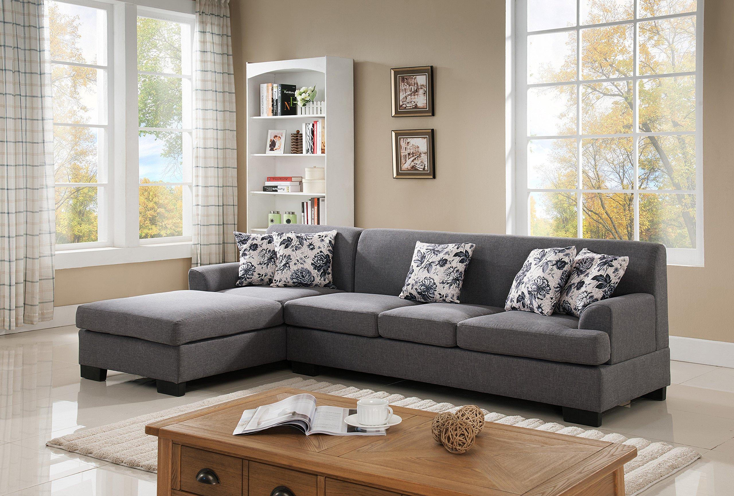 Buy US Pride Furniture S0073-2PC Allen Modern Fabric Reversible ...