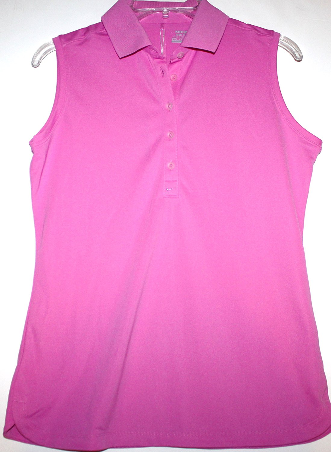 fd1eca47 Get Quotations · Nike Golf Women's M 100% Polyester Pink Victory Sleeveless Polo  Shirt