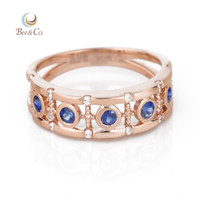 18K Gold Sapphire European Victorian Style Ring