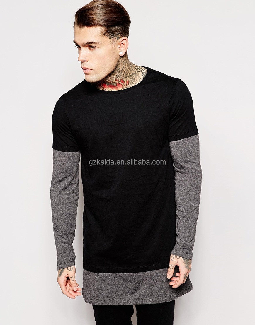 Hot new 2017 Fashion two-color extra long sleeve Black T-Shirt With Turtle 5a6009b0b66
