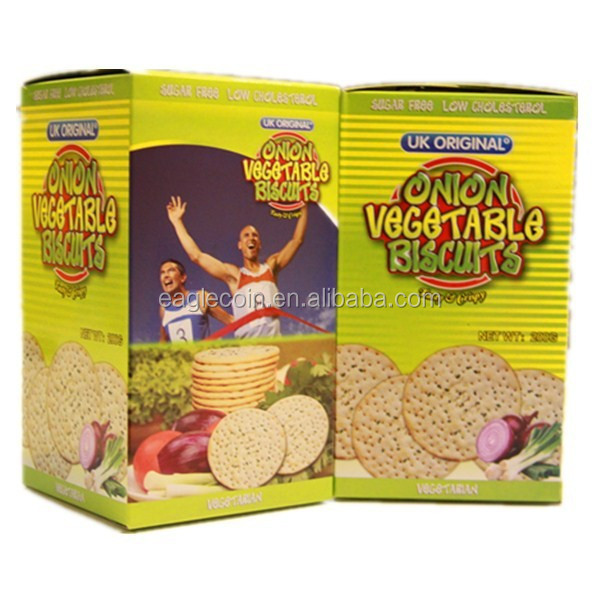 Wholesale 200g Onion Vegetable Diet Biscuits