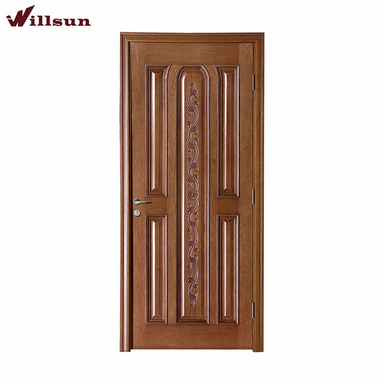 Deep Carved Panel Wood Door Soundproof Bedroom Door Models - Buy ...