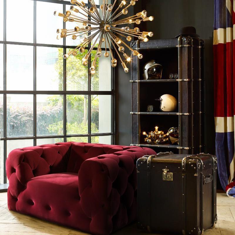 Modern salon furniture red color luxury velvet sofa buy for Luxury beauty salon furniture