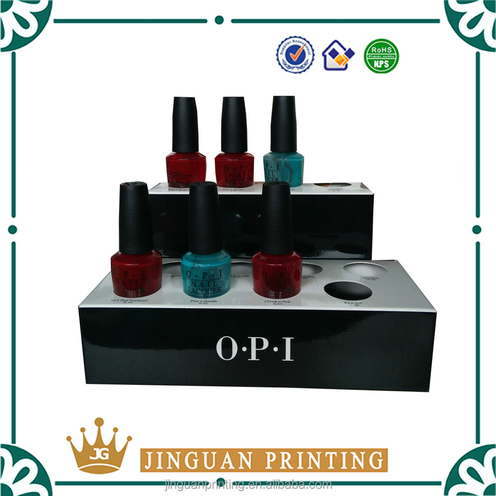 Custom luxury show cardboard printing your own design nail polish display stand