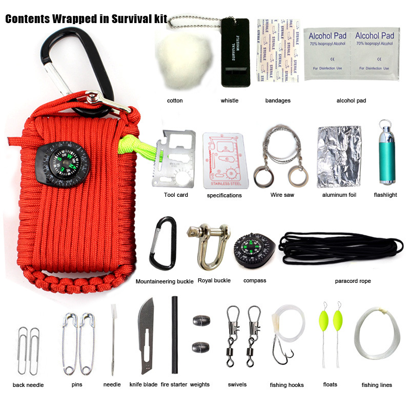 Survival fishing kit multi function survival kit Tactical Emergency Survival Kit