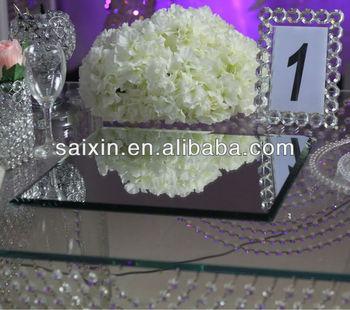 Wedding centerpiece 4040cm square mirror for candelabra base view wedding centerpiece 4040cm square mirror for candelabra base junglespirit Images