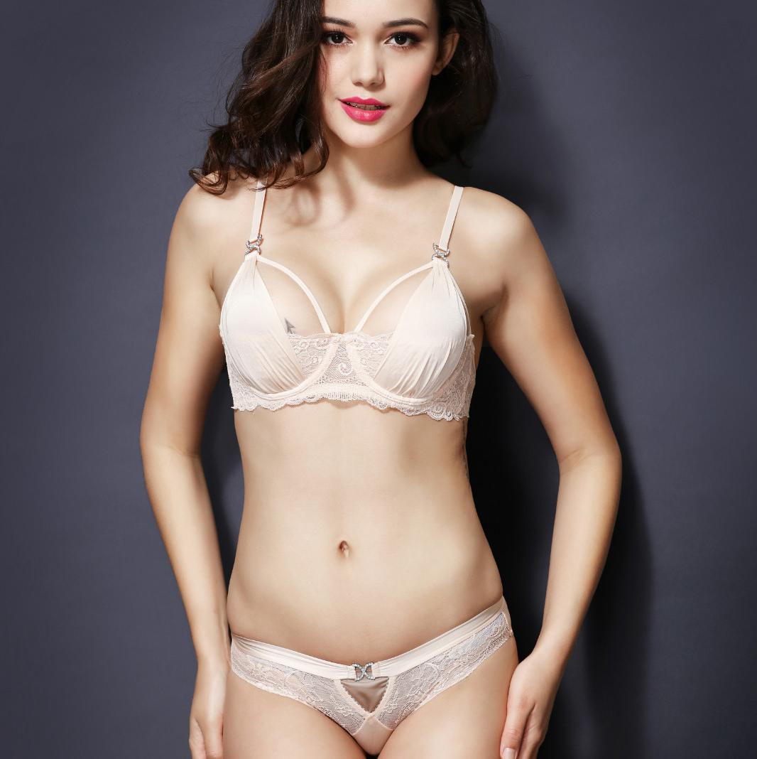 e64db3e5ba Sexy Bra Set D Cup Plus Size Underwear Women 2016 Summer Sheer Lace Straps  Bra and Panty Sets Sequins Transparent Lingerie Hot   Nice plus size  clothing ...