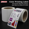 digital printed label rolls Matte PP stickers full color stickers variable QR code printing Small MOQ acceptable