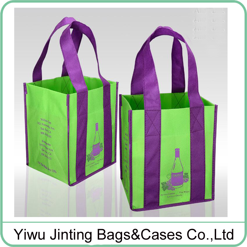 Promotional printing nonwoven wine <strong>tote</strong> bag shopping bag