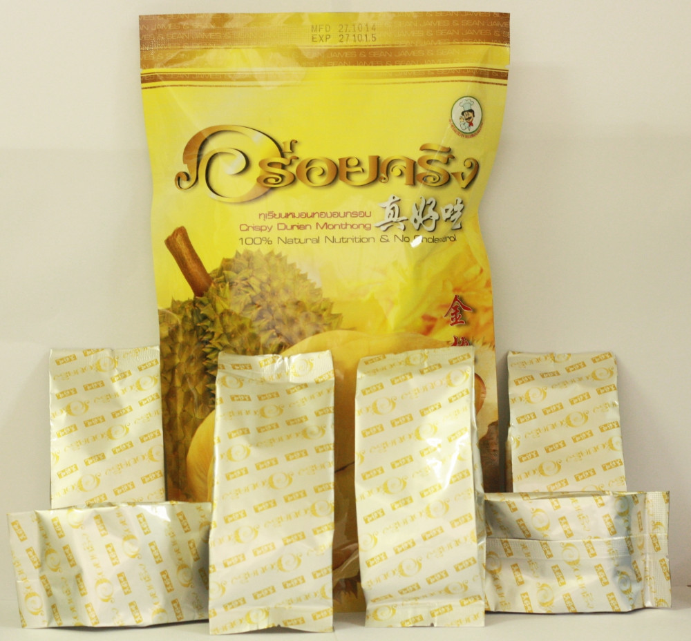 durian freeze dired, James & Sean 210 g. (35 g. x 6 small packs)