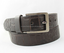 Factory price Different design 38mm(or custom) men crocodile leather belt