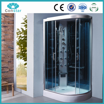 white abs high tray complete steam shower cabin bathroom portable shower clean room japan prefab shower