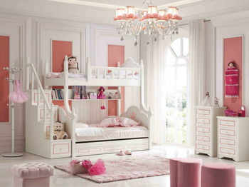 2014 Sweet Princess Kids Bunk Bed Suite Was Made From E1