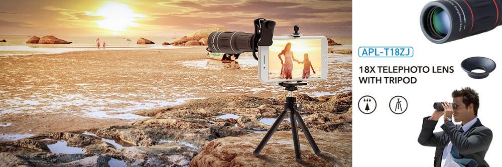 Apexel Hot Selling Arrival Universal 18X Telescope Zoom Lens Telephoto Camera lens