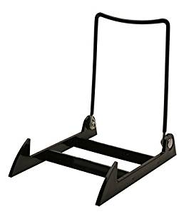 "12 Gibson Holders 3PLBB Adjustable Wire & Acrylic Easels- 4"" W x 5.5"" H with 4.5"" ledge, Black"