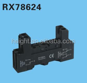 Height Hot Sale Rx Relay Socket Pin Relay Socketrelay - 5 pin relay socket