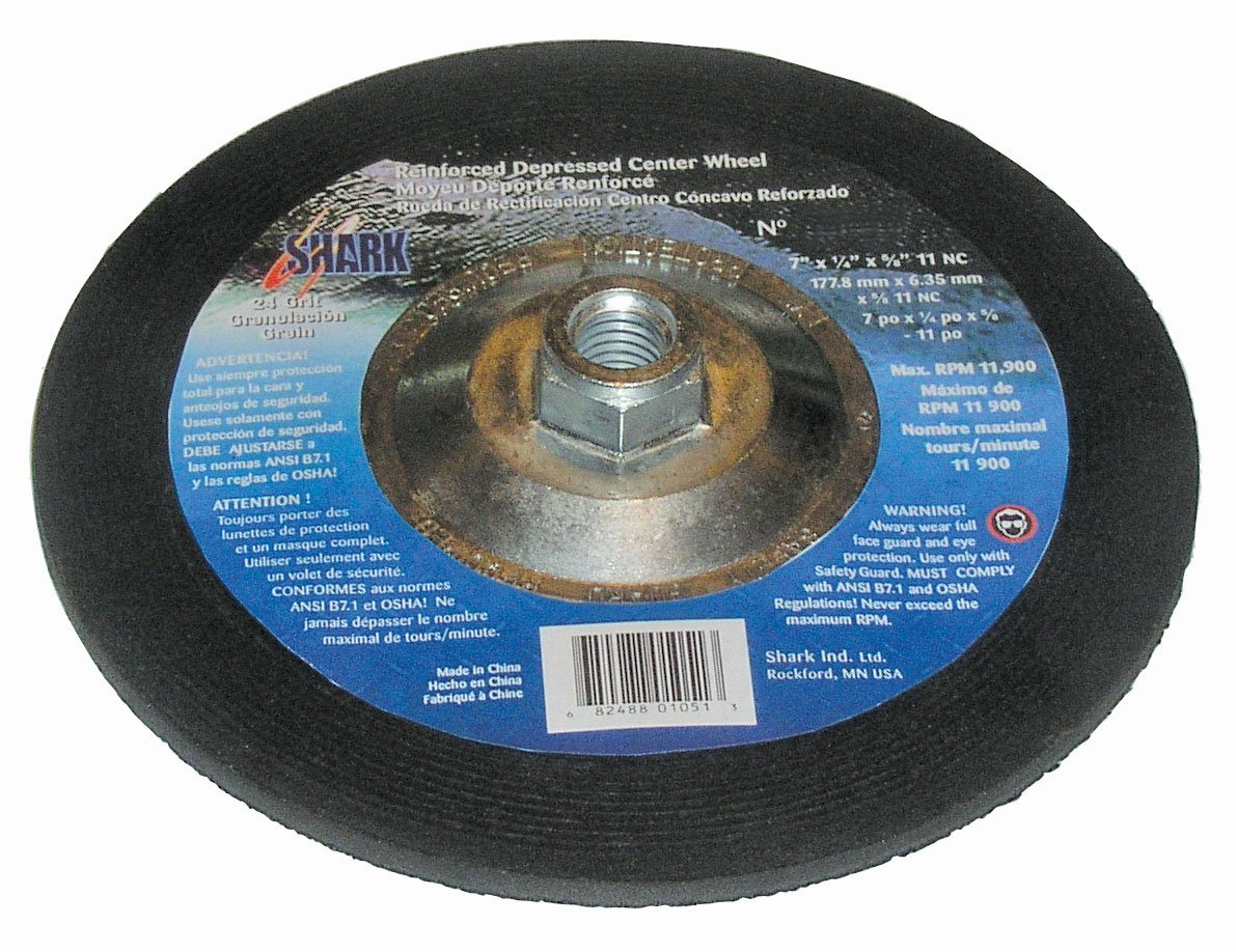 Shark SDP402-25    4-Inch by 0.25-Inch by 0.375-Inch Depressed Center Grinding Wheel with Grit-24 25-Pack