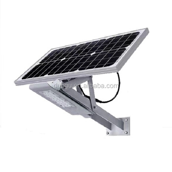 Wall Mounted Or Pole Smart Solar Led Street Light With Control And Time Outdoor Lighting Fixtures