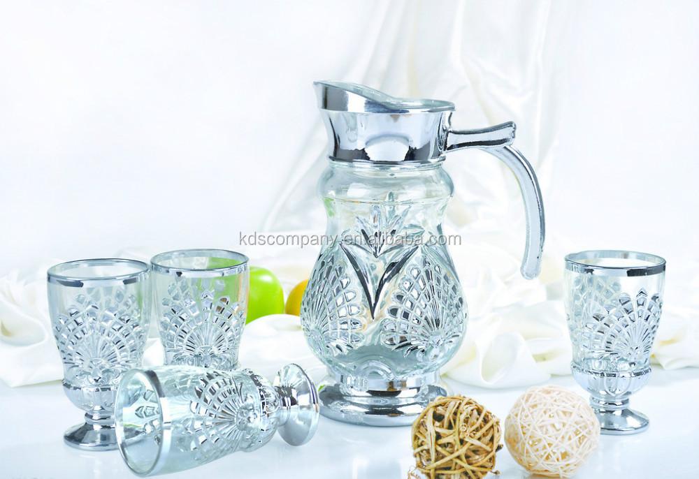 Glass Water Jug Set Drinking Juice Set