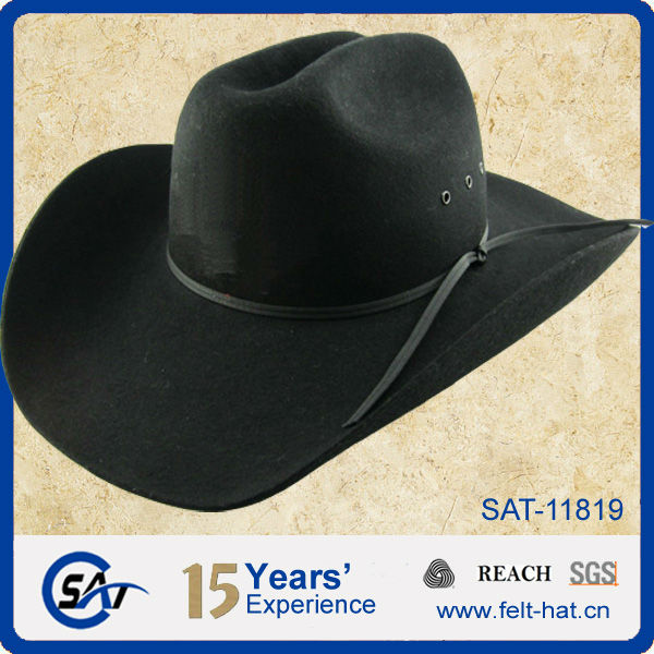 Vintage 100% Wool Black Cattleman Crease Cowboy Hat - Buy Cattleman ... d75e9444d71